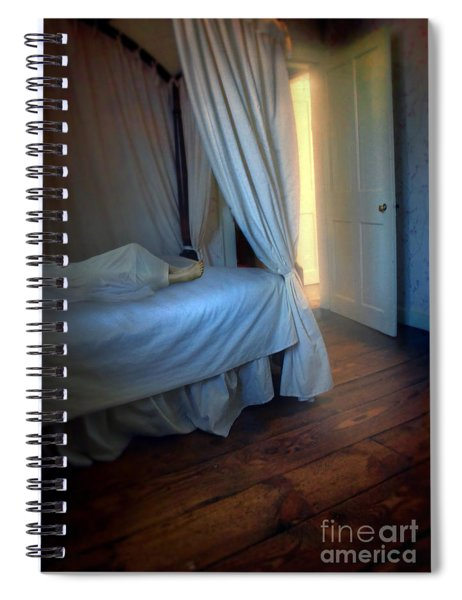 Person In Bed Spiral Notebook