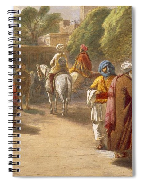 Peshawar Market Scene, From India Spiral Notebook