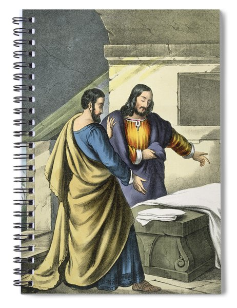 Peter And John At The Sepulchre Spiral Notebook