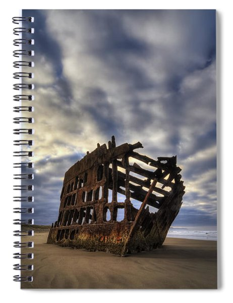 Peter Iredale Shipwreck Sunrise Spiral Notebook