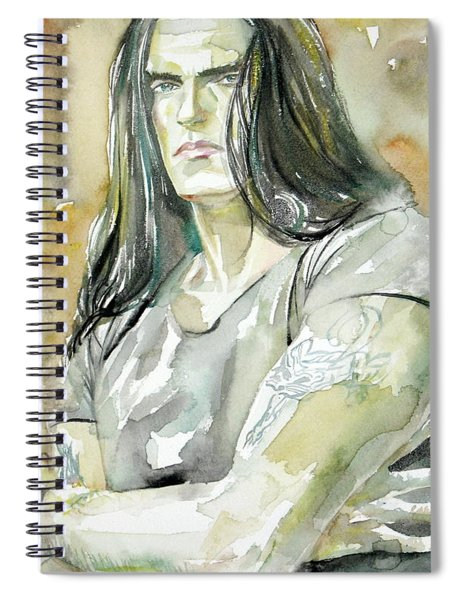 Peter Steele Portrait.2 Spiral Notebook