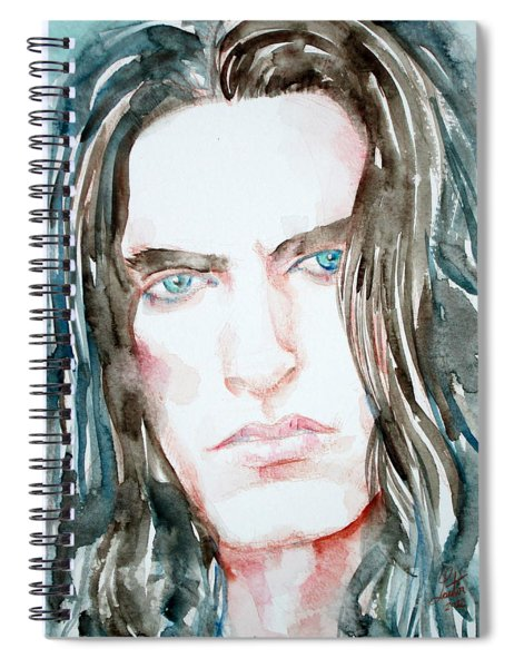 Peter Steele Watercolor Portrait Spiral Notebook