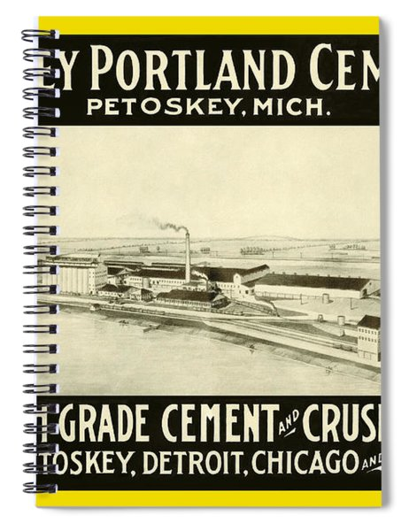 Petoskey Cement Co. Vintage Ad Spiral Notebook