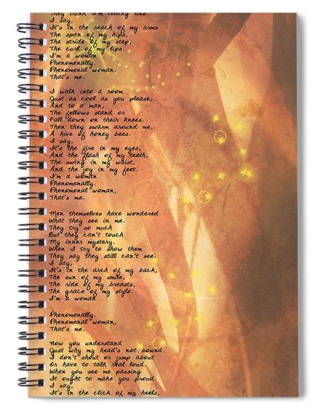 Phenomenal Woman Spiral Notebook