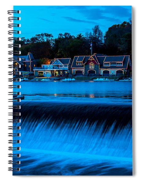 Philadelphia Boathouse Row At Sunset Spiral Notebook