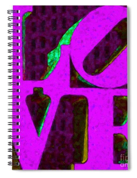 Philadelphia Love - Painterly V2 Spiral Notebook