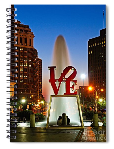 Philadelphia Love Park Spiral Notebook