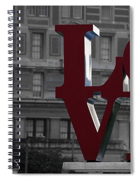 Philadelphia Love Spiral Notebook