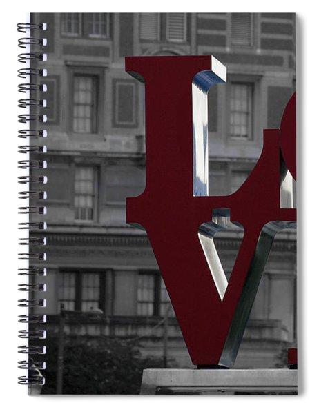 Philadelphia Love Spiral Notebook