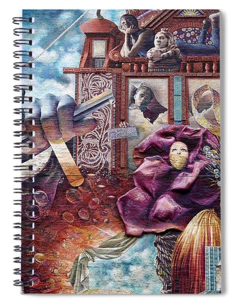 Philadelphia - Theater Of Life Mural Spiral Notebook
