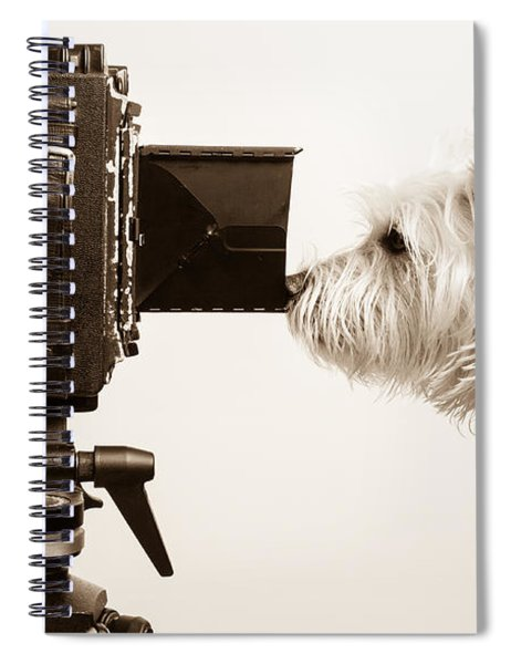 Spiral Notebook featuring the photograph Pho Dog Grapher by Edward Fielding
