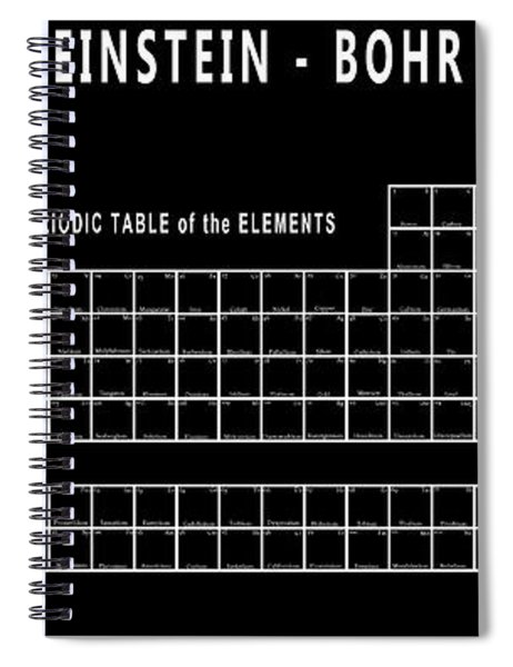 Physicists Periodic Table Spiral Notebook