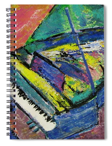 Piano Blue Spiral Notebook