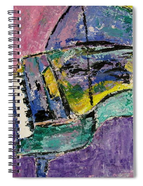 Piano Green Spiral Notebook