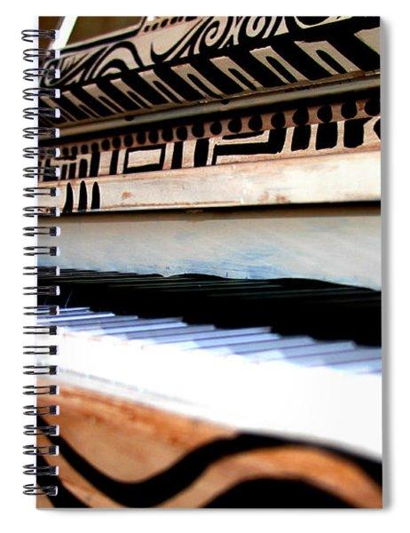 Piano In The Dark - Music By Diana Sainz Spiral Notebook