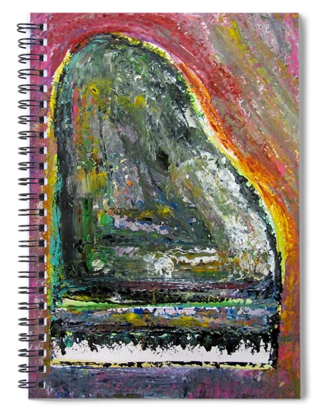 Piano Red Spiral Notebook
