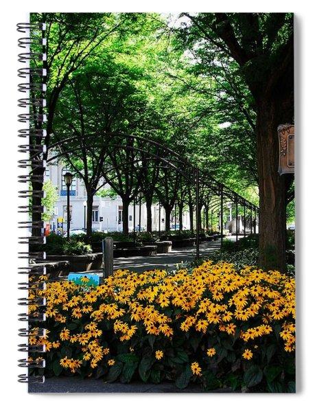 Spiral Notebook featuring the photograph Piatt Park 1 by Mel Steinhauer