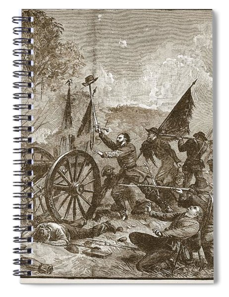Picketts Charge At Gettysburg Spiral Notebook