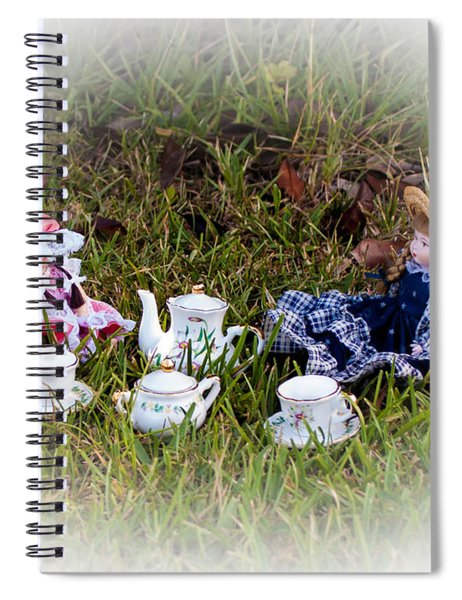 Picnic For Dolls Spiral Notebook