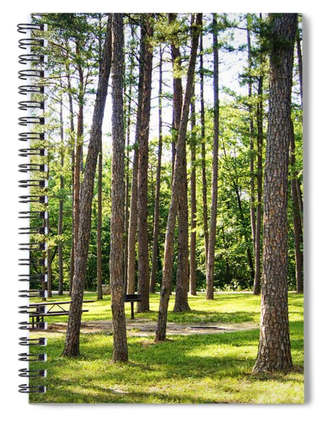 Picnic In The Pines Spiral Notebook