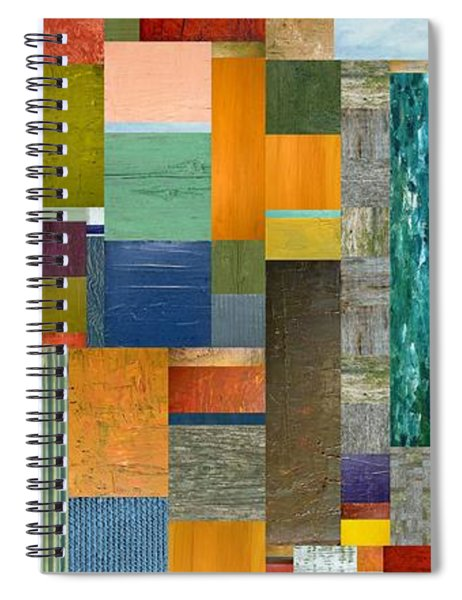 Pieces Parts V Spiral Notebook by Michelle Calkins