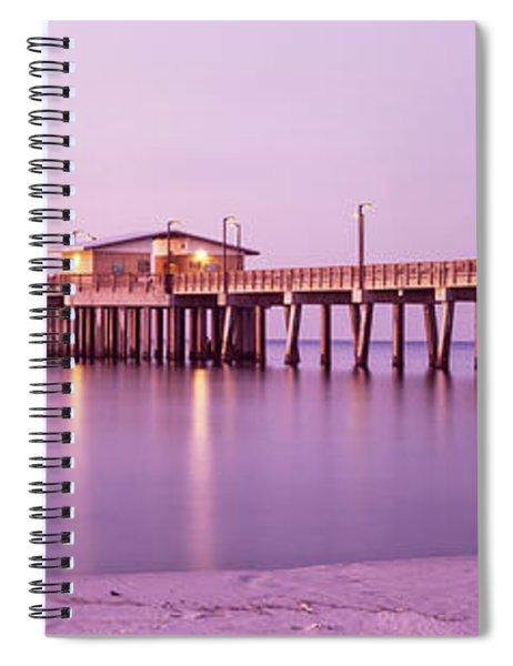 Pier In The Sea, Gulf State Park Pier Spiral Notebook