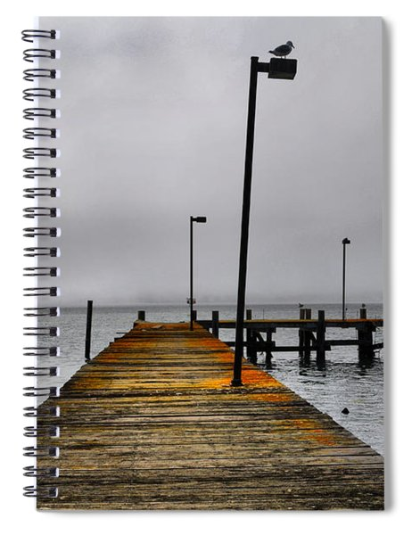 Pier Into The Fog Spiral Notebook