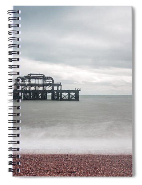 Pier Remains In Brighton Spiral Notebook
