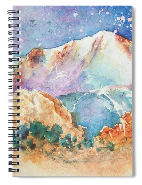 Pikes Peak Over The Garden Of The Gods Spiral Notebook