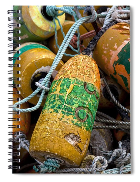 Pile Of Colorful Buoys Spiral Notebook