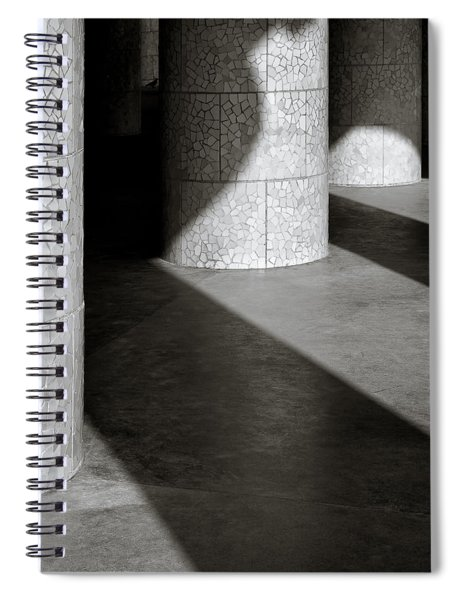Pillars And Shadow Spiral Notebook