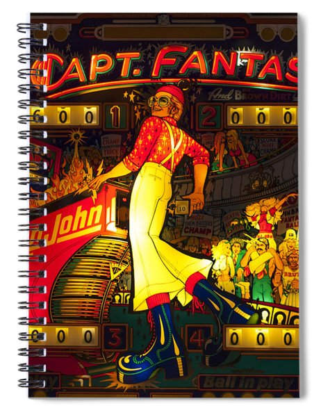 Pinball Machine Capt. Fantastic Spiral Notebook