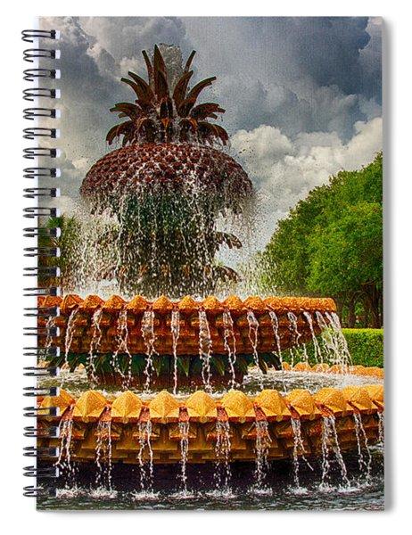 Pineapple Fountain Charleston Spiral Notebook