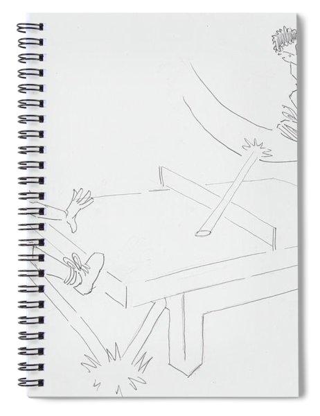 Ping Pong Cartoon Spiral Notebook