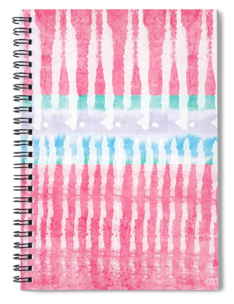 Pink And Blue Tie Dye Spiral Notebook