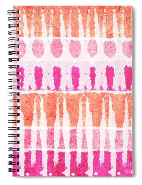 Pink And Orange Tie Dye Spiral Notebook