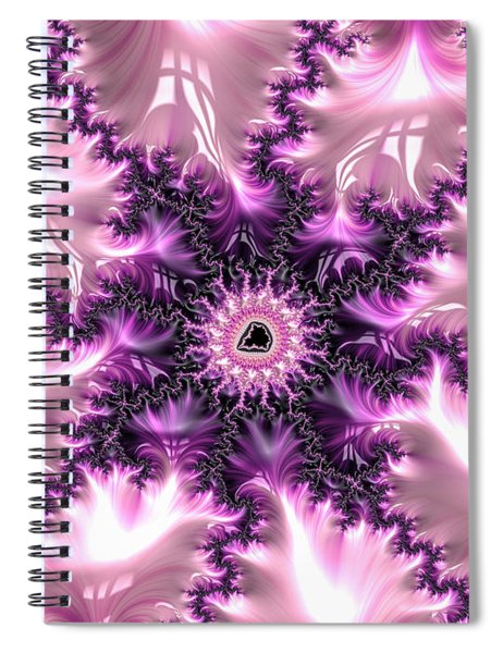Pink And Purple Soft And Creamy Fractal Art Spiral Notebook