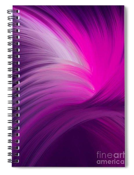 Pink And Purple Swirls Spiral Notebook