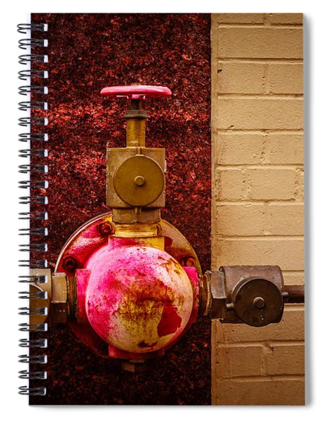 Pink And Rusted Spiral Notebook