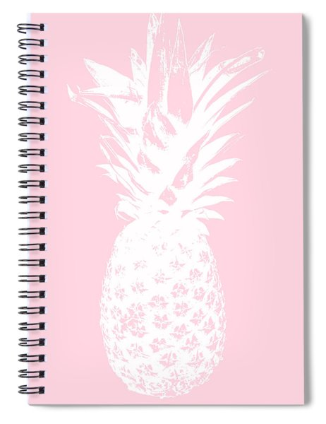 Pink And White Pineapple Spiral Notebook