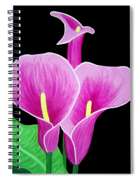Pink Calla Lillies 2 Spiral Notebook