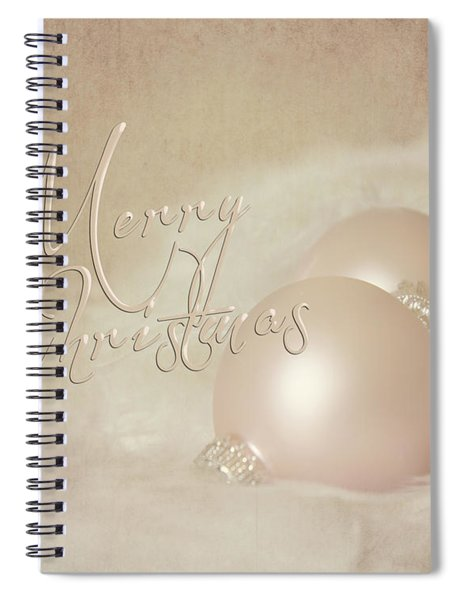 Pink Christmas Ornaments Spiral Notebook