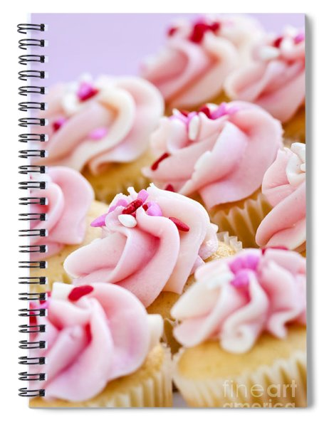 Pink Cupcakes Spiral Notebook