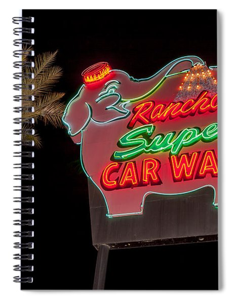 Pink Elephant Car Wash 36 X 24 Spiral Notebook