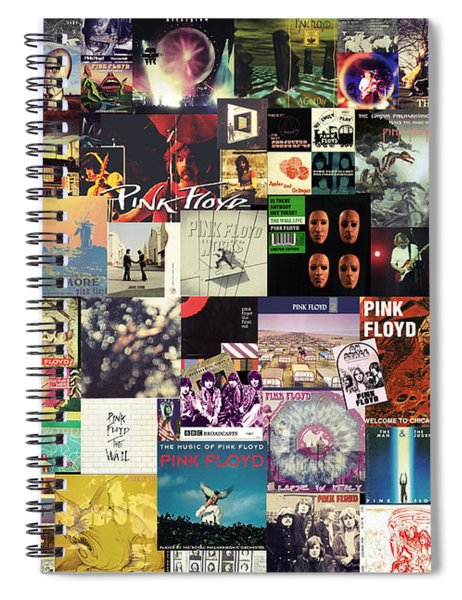 Pink Floyd Collage I Spiral Notebook