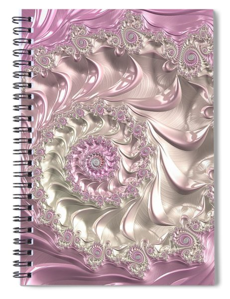Pink Fractal Spiral Art Bright And Luxe Spiral Notebook