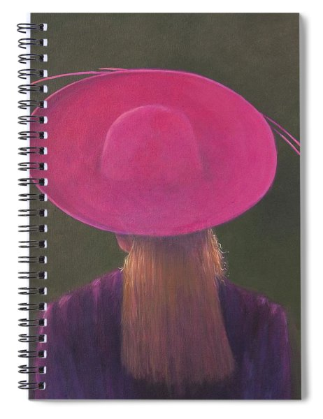 Pink Hat, 2014 Oil On Canvas Spiral Notebook