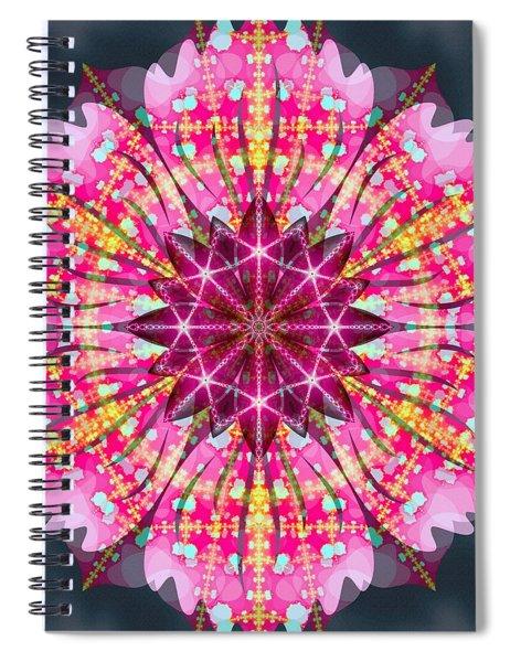 Spiral Notebook featuring the digital art Pink Lightning by Derek Gedney
