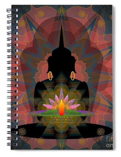 Pink Lotus Buddha Spiral Notebook