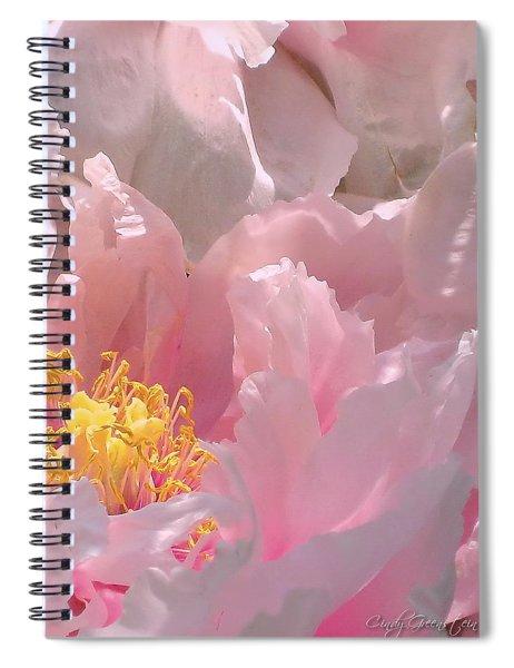 Pink Peonies 2  Spiral Notebook